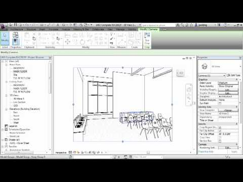 Revit Architecture 2013 Tutorial | Camera