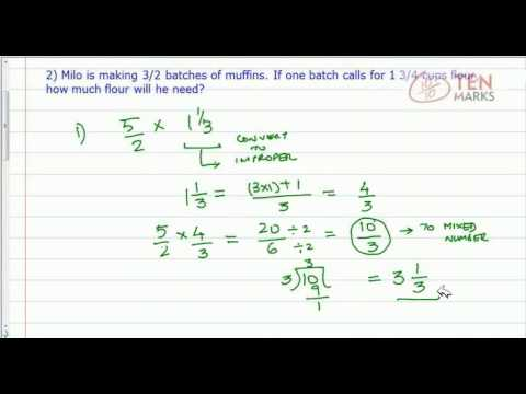 Multiply Fractions by Mixed Numbers