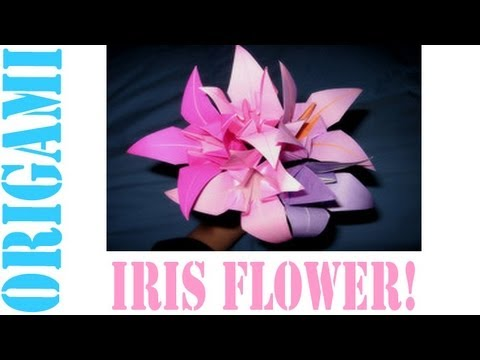 Origami Daily - 324: Iris Flower - TCGames [HD]
