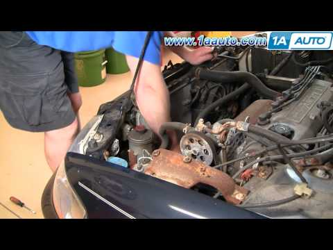 How To Install Repair Replace LH Driver Side Radiator Engine Cooling Fan Accord 98-02 1AAuto.com