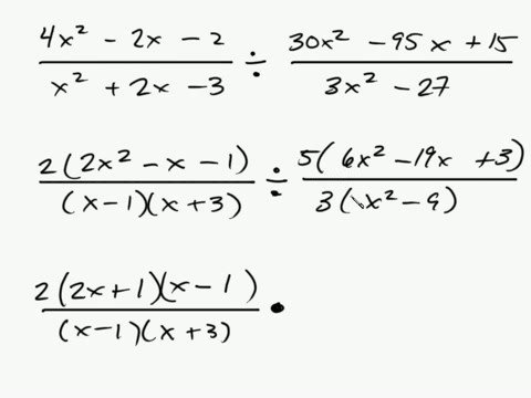 Algebra - Factoring Rational Expressions Part 2 Intuitive Math Help Binomial Polynomial