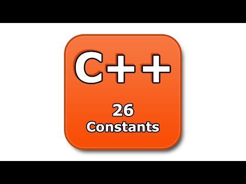 C++ Tutorial - 26 - Constants