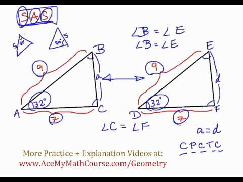 Geometry - Triangle Congruency: SAS (Side Angle Side)