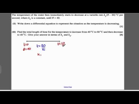 Core 4 OCR June 2009 Q9 - Differential equations(6)