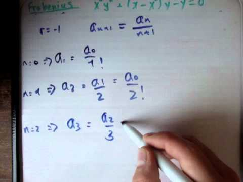 Frobenius method example 1 part 2