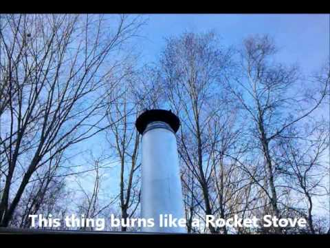 The Off Grid Camper Fireplace Burns Like A Rocket Stove. Antique Stove Part 2
