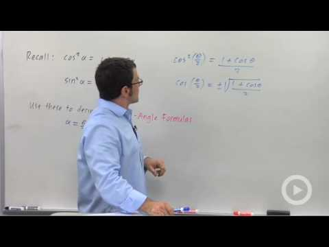 Precalculus - The Half-Angle Identities