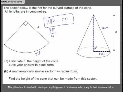 (Q182) A Star GCSE Revision Questions arcs and sectors