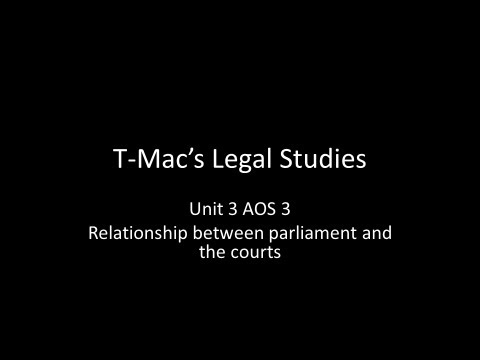 VCE Legal Studies - Unit 3 AOS 3 - Relationship between parliament and the courts