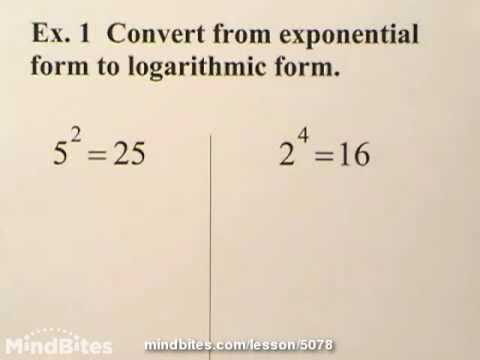 Exponents & Logs: Working With Logarithms