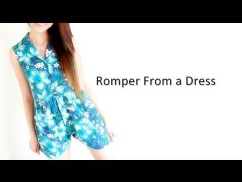 Secretlifeofabionerd : Back to School Vamping Up An Old Dresses into a Romper.