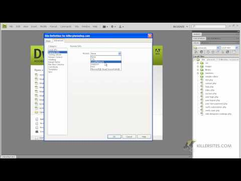 Dreamweaver CS4 Basics - Site Definition Tool