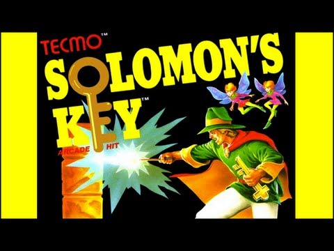 Solomon's Key NES Complete Walkthrough in 1 Life