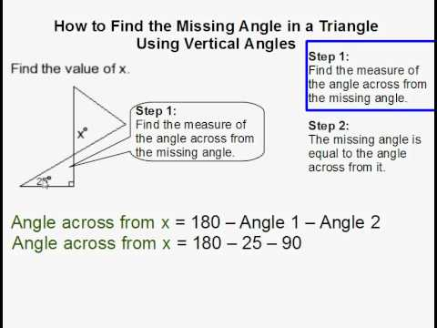 How to Find a Missing Angle Using Vertical Angles