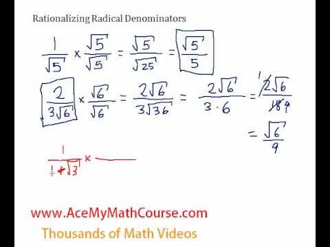 Rationalizing Radical Denominators - Introduction