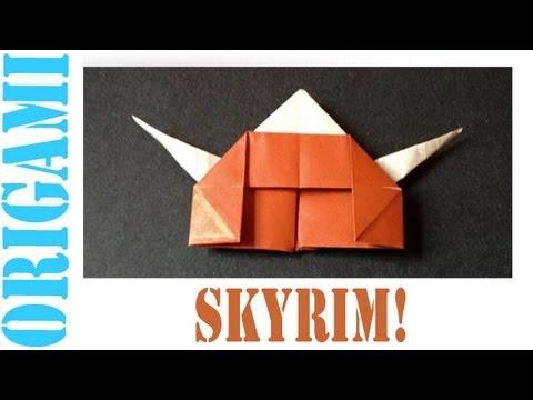 Origami Daily - 073: Elder Scrolls V - Skyrim Helmet (By Suhas) - TCGames [HD]