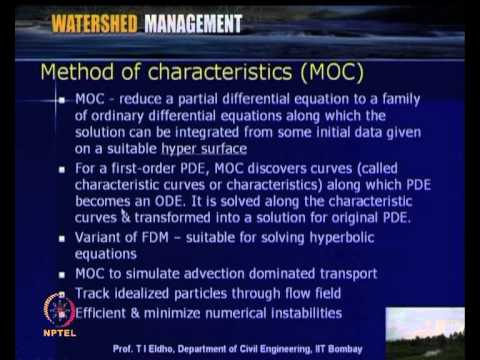 Mod-04 Lec-17 Numerical Watershed Modeling