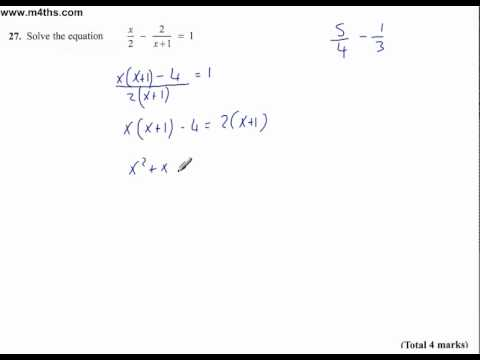Longer answer Q27 edexcel linear 2011 june non calc higher paper