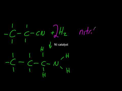 20.2.6 Describe the reduction of nitriles using H2 and Ni catalyst IB Chemistry HL