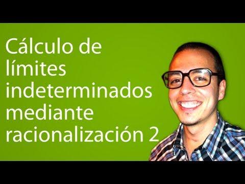 Cálculo de límites indeterminados mediante racionalización 2