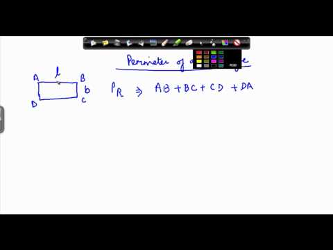 Mathematics Class VI - Perimeter of rectangle