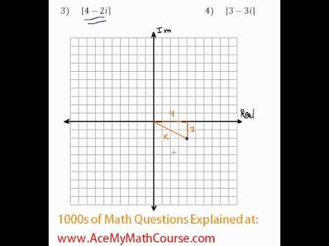 Complex Numbers - Absolute Value #3-4