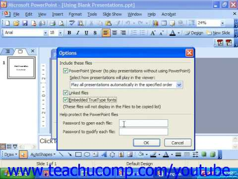 PowerPoint 2003 Tutorial Using the Package for CD Feature Microsoft Training Lesson 3.4