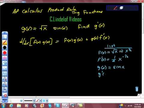 AP Calculus Product Rule with Trigonometric Functions