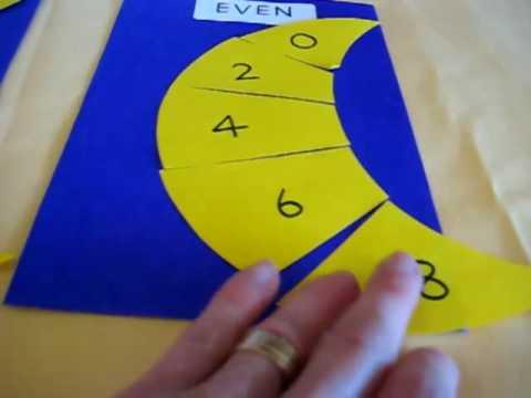 Grade 1 - Math. Odd and Even Moons