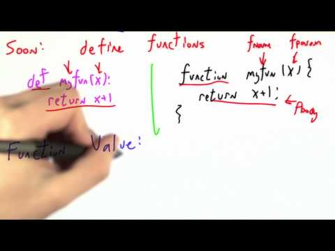Calling Functions - CS262 Unit 5 - Udacity