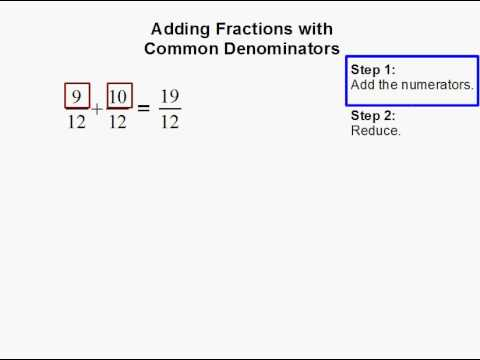 How to Add Fractions with Common Denominators