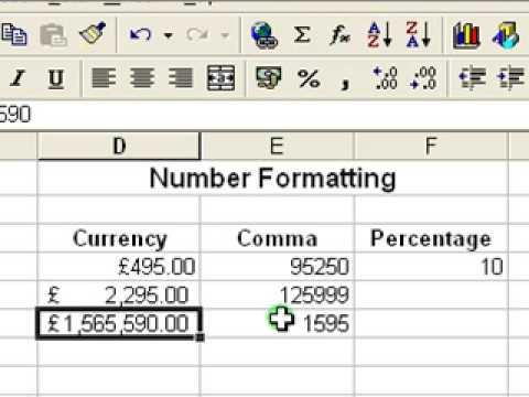 Microsoft Excel Tutorial for Beginners #5 - Number Formats