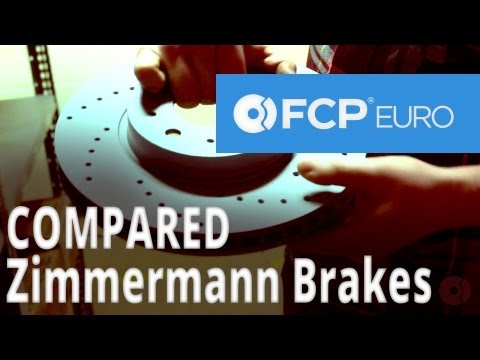 Zimmermann Brake Rotors Compared by Mike G (OEM Replacement,Coated,Cross-Drilled) FCP Euro