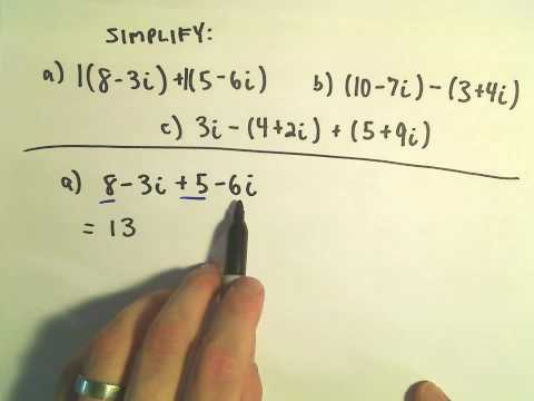 Adding and Subtracting Complex (Imaginary) Numbers
