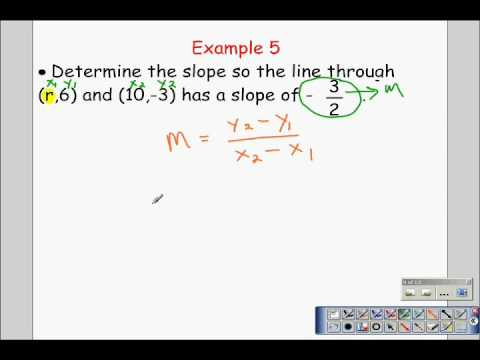 Algebra 1 Slope and the Slope Formula Part 2