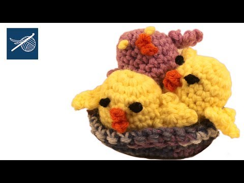 Left Hand Crochet - How to make a Crochet Peep - Amigurumi Left Hand