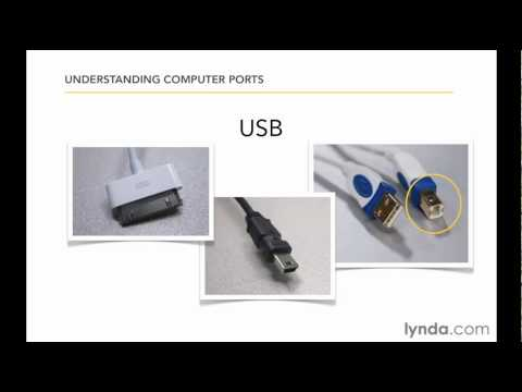 How to use USB, ethernet, audio, and monitor ports | lynda.com tutorial