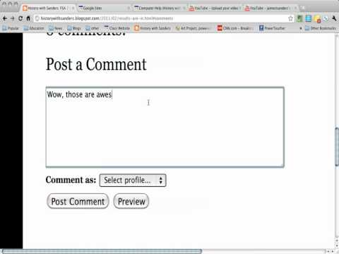 Adding a Comment to a Blogger Blog Post