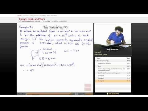 AP Chemistry: Energy, Heat, and Work