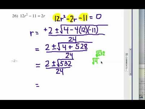 How to Solve Quadratic Equations: Problem Set #4