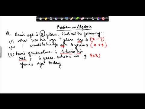 CBSE Class VI maths,  ICSE Class VI maths -   Algebric expression   iii