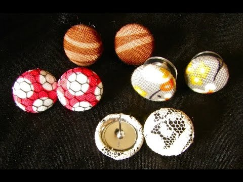 Cute As A Button Fabric Earrings Tutorial