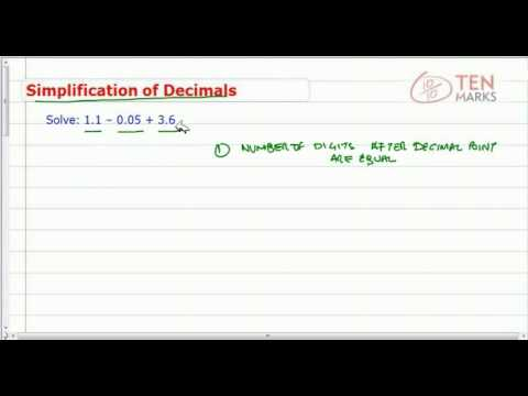 Simplification of Decimal Expressions
