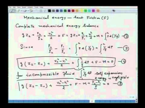 Mod-01 Lec-22 Macroscopic Energy Balance: Concepts