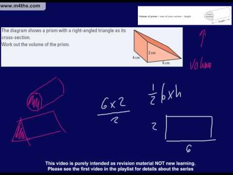 (17) C to D Grade GCSE Questions Playlist volume of prism 2