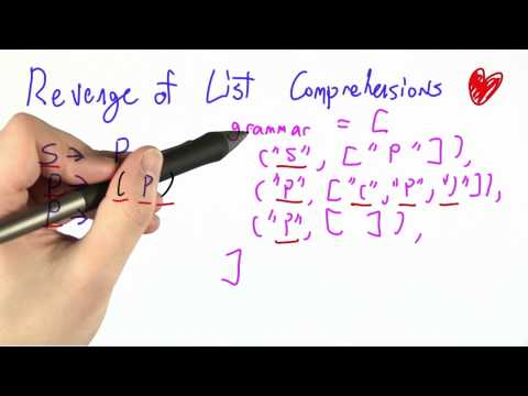 Revenge Of List Comprehensions - CS262 Unit 4 - Udacity