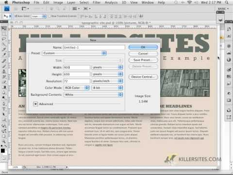 Photoshop for the Web - Planning Dimensions Part 2