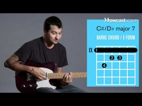 How to Play Guitar: Beginners / Barre Chords: C Sharp Major 7/D Flat Major 7