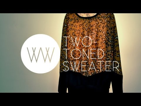 How to Make a Two-Toned Sweater