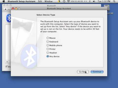 Adding a Bluetooth device to Mac 10.5 Leopard